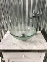 220. Vessel Sink Installation in an Industrial Look Bathroom