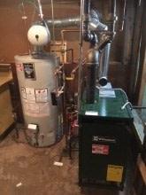 220. Williamson Steam Boiler With Bradford white Water Heater Installation